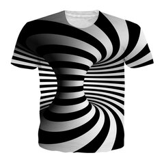 9a87add5fda5 Fashion 3D Abstract Pattern Loose Short Sleeve T-Shirts for Men on ...