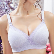 Comfortable Seamfree Cotton Wireless Anti Sagging Front Button Nursing Bras