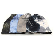 Womens Cotton Printing Skullies Beanie Hat Casual Ear Protection Windproof Warm Hat