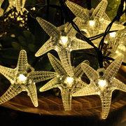KCASA SSL-11 Jardinería 6M 30LED Solar Panel String Luz Decoración de la boda de la fiesta de Navidad Starfish