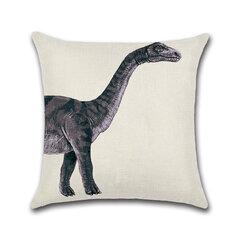 القطن والحيوان الحيوانات الحوت الفيل الديناصور وسادة غطاء مربع ديكور المنزل المخدة