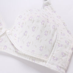 Floral Printed Comfy Wireless Front Button Maternity Nursing Bra For Pregnancy Women