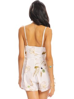 Women Sexy Floral Print V-neck Camisole Backless Jumpsuit