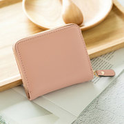 Women Faux Leather 13 Card Slot Short Wallet Cute Coin Purse