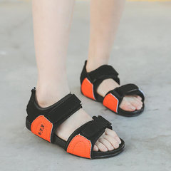 Unisex Kids Splicing Double Hook Loop Casual Beach Sandals
