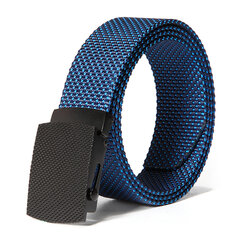 130CM Mens Casual Comfortable Nylon Dots Smooth Buckle Waist Outdoor Military Tactical Belt