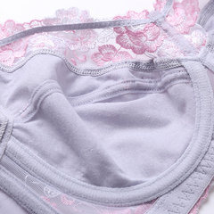 Plus Size Unlined Embroidery Adjustable Full Busted Lightly Lined Bras