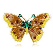 الحلو الفراشة دبابيس الراين الملونة النفط الطلاء المجوهرات colthing دبوس بروش للنساء الرجال