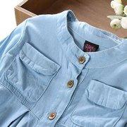 Сплошной цвет оборка Soft ткань Рубашка