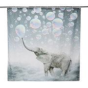 150 x 180cm Elefante Print Waterproof Bathroom Banheiro Painel Cortina Panel Decoração com ganchos