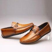 Men Rivet Decoration Crocodile Modello Soft Scarpe Slip On Casual Loafers