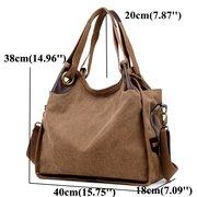 Женское Холст большой емкости, повседневная сумка, шоппинг, дорожное плечо Сумки