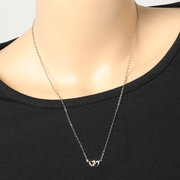 Classic Heart Pendant Womens Necklaces Silver Gold Heart to Heart Bridal Wedding Necklaces for Women