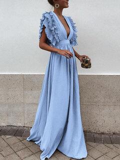 Stringy Selvedge Sleeveless Backless Maxi Dress For Women