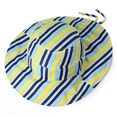 Femmes Vogue Stripe Sunscreen Seau Ponytail Hat En Plein Air Casual Pliable Voyage Beach Sea Hat