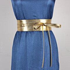 Женские аксессуары для одежды Широкий бантик из ленточного ремня из искусственной кожи Ремень