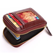 Porte-cartes femme en cuir PU portefeuille avec 11 fentes pour carte