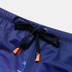Short de bain d'impression Hawaii pour hommes à séchage rapide, boxer, maillot de bain, maillot de bain, bleu marine