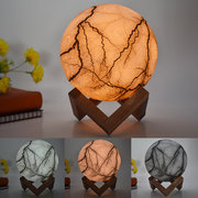 New 3D Printing Moon Lamp LED Night Light Christmas Decorations Remote Control USB Rechargeable Gift