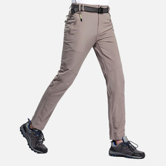 Mens Outdoor Waterproof Breathable Elastic Quick Dry Thin Hiking Pants