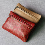 Men And Women Genuine Leather Key Holder Solid Vintage Coin Wallet