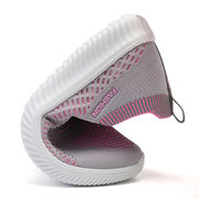 Mulheres Andando Leve Soft Mesh Slip On Casual Sneakers