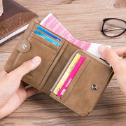 Genuine Leather Multi-functional 13 Card Slots Coin Pocket Trifold Wallet For Men