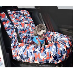 Camouflage Pet Car Seat Bed Dog Cat Car Safety Seat Carrier Cover for Winter