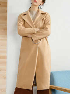 LILITH A PARIS Casual Turn-Down Collar Women Woolen Coats
