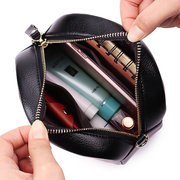 Women Faux Leather Personalized Print Round Bag Shoulder Bag