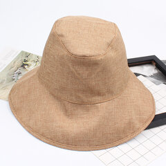 Ladies Polyester Solid Foldable Breathable Sunshade Anti-windy Fashion Bucket Cap