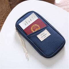 حقيبة سفر قطنية متعددة الوظائف حقيبة جواز سفر حامل جواز سفر حامل تذكرة