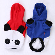 2 Colors Pet Dog Clothes  Panda Ear Hoody Clothes Pullover Coat Costume Outwear
