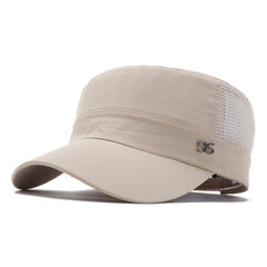 Men's Mesh Flat Cap Summer Breathable Sun Visor Polyester Flat Top Hat