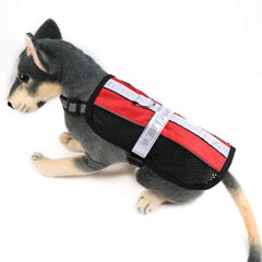 Reflective Safety Mesh Vest Pet Dog Control Harness With Removable Magic Patches