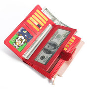 Women 17Card Slots Wallet Solid Weaving Coin Bag