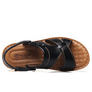 Men Opened Toe Comfortable Soft Water Friendly Leather Snadals