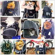 Ondoing Pet Backpack Rolling Travel Pet Carrier Dog Cat Microfiber Black Small Pets Walking