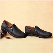 Men Microfiber Leather Slip-Ons Casual Loafers
