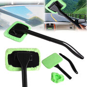 Fiber Windshield Cleaner Microfiber Auto Window  Long Handle Brushes Sponges Car Cleaning Tool