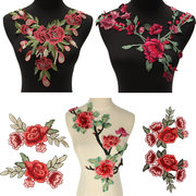40*35 cm  Lace Neckline Collars Flower Embroidery Motif Applique Venise Sew on Patches