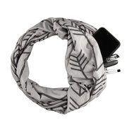 Unisex Winter Warm Convertible Pocket Scarf Outdoor Casual Convenient Carrying Items Scarf