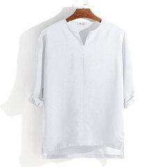Maglietta allentata casuale allentata della manica lunga di modo di colore solido respirabile comodo di Mens