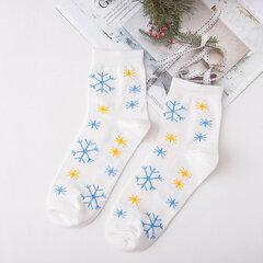 Мужчины Женское Зимний теплый принт Средняя трубка Рождество Носки Повседневный дышащий хлопок Хороший эластичный Носки