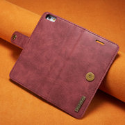 Men And Women 2PCS Trifold 3 Card Slot Phone Bag For iPhone Magnetic Set Purse