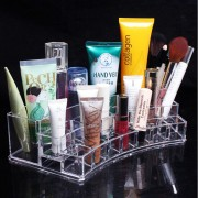Acrílico Clear Cosmetic Organizer Makeup Storage Nail Art Container