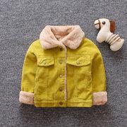 Velo de veludo crianças quentes bebê meninas meninos casaco de inverno casaco por 6-36 meses