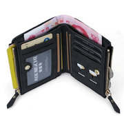 RFID 8 Card Holders Vintage PU Leather Vertical Coin Bag Casual Wallet For Men