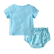 Baby Girls Letter Printed Lace Bow Clothing Sets For 0-24M