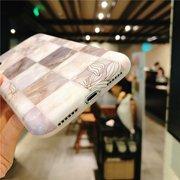 Женское Vogue Мраморный Серый Плед Литературные Листья ТПУ Телефон Чехол Задняя Крышка Anti-Fall Для iPhone